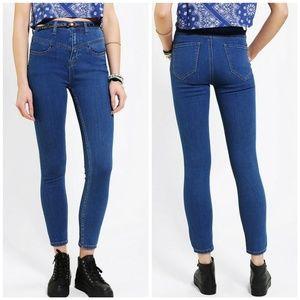BDG High-Rise Seam Skinny Stretch Ankle Mom Jeans